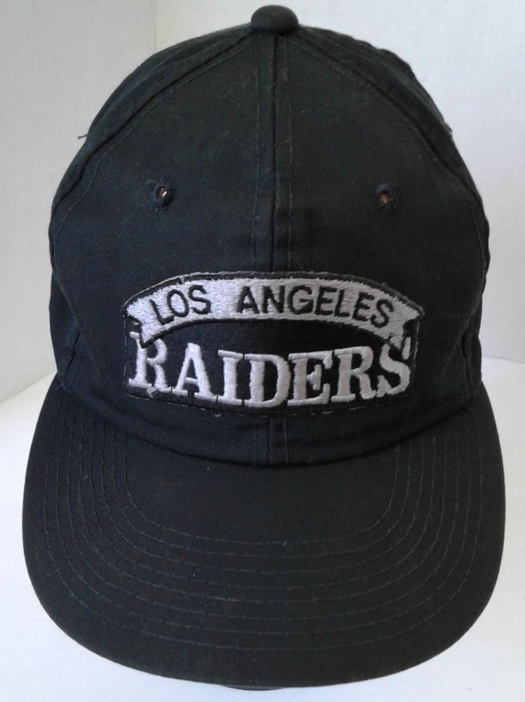 07f8b8b73 Los Angeles Raiders Vintage Snapback Hat Script Patch Licensed NFL  Distressed  NFL  LosAngelesRaiders
