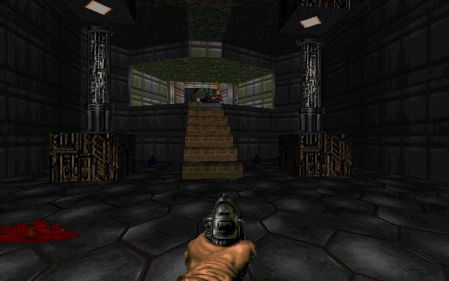E1M1: Hangar (Doom) screenshot This is a screenshot of a