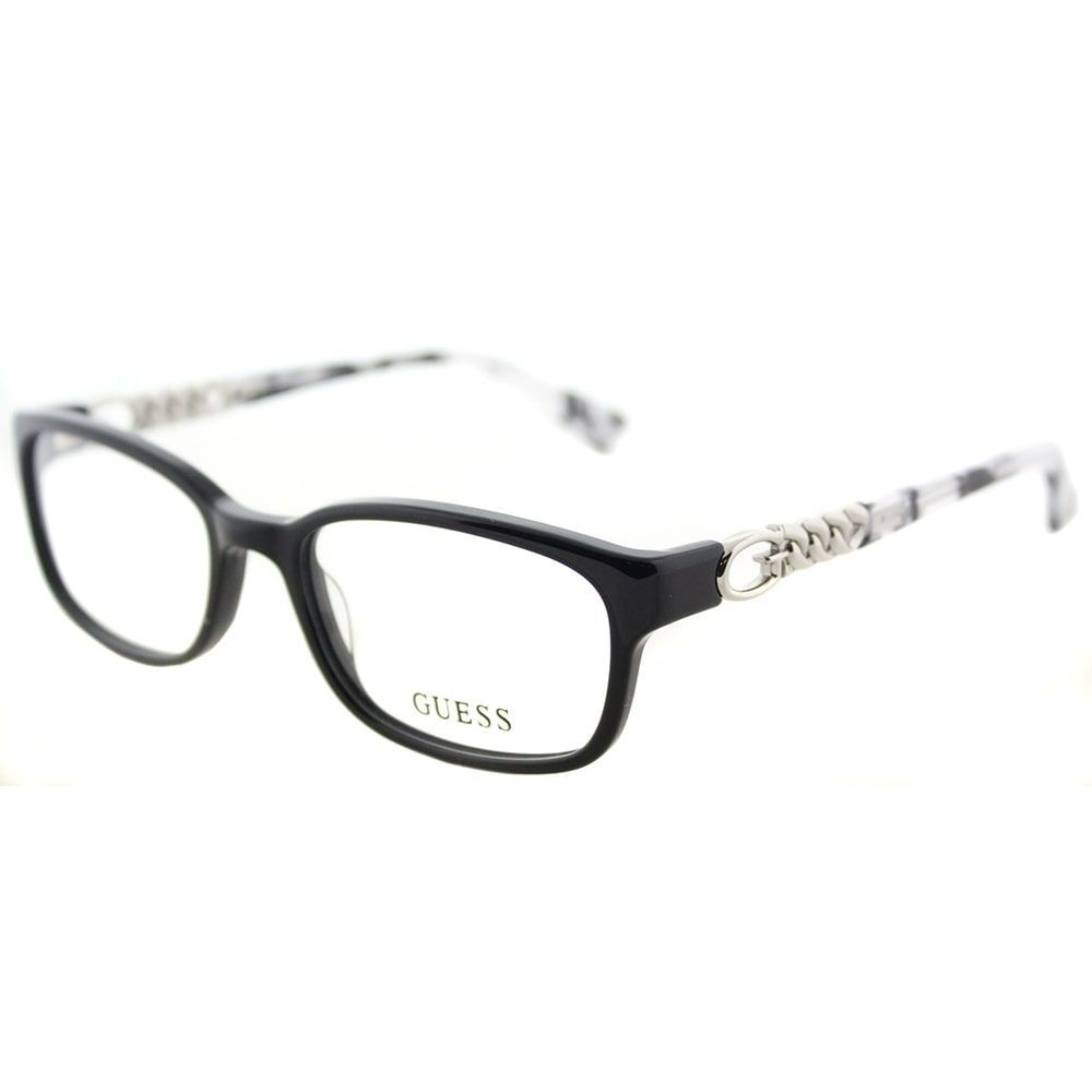 Guess GU 2558 001 Shiny Rectangle Eyeglasses 51mm | Products ...