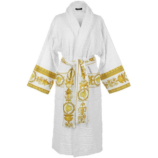 46f840a6 Versace White Bathrobe (580 BGN) ❤ liked on Polyvore featuring ...
