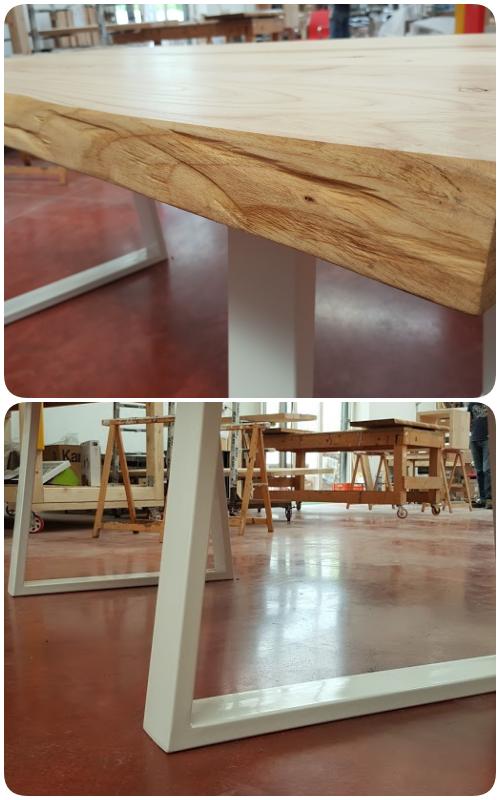 Acquista online tavolo in legno massello di castagno stagionato ...