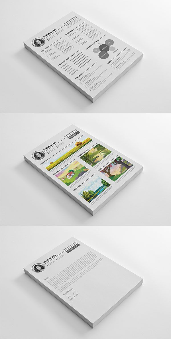 Resume Freebie PDS Template #graphic #design #template | Great ...