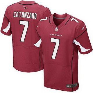 a6c05c31b Men's Arizona Cardinals #7 Chandler Catanzaro Red Team Color NFL Nike Elite  Jersey
