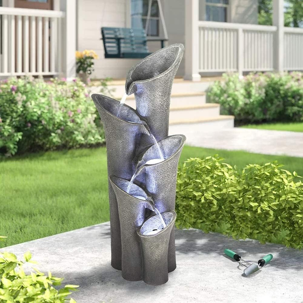Overstock Com Online Shopping Bedding Furniture Electronics Jewelry Clothing More In 2021 Fountains Outdoor Water Fountains Outdoor Fountains Outdoor contemporary water feature by ivyline
