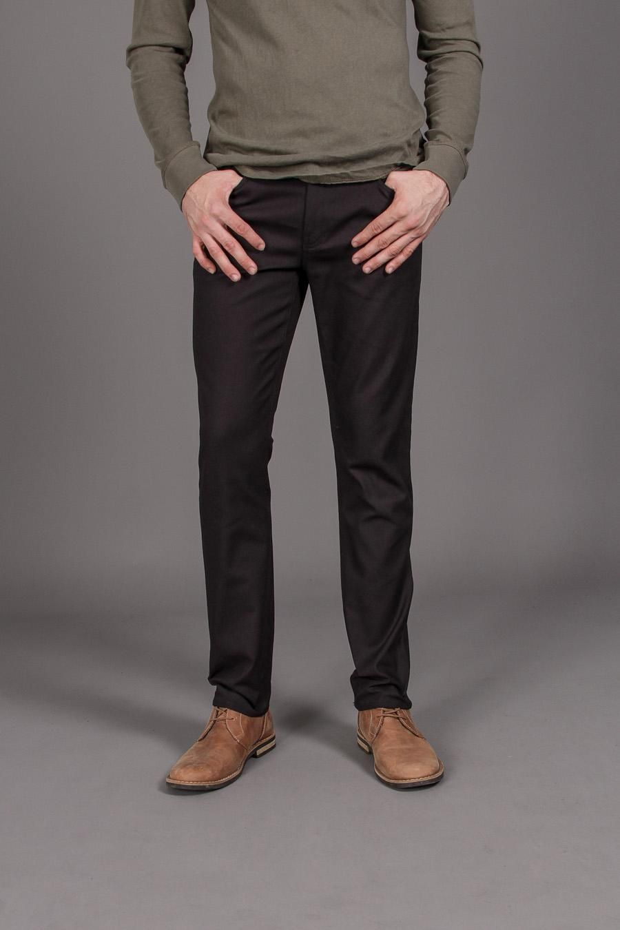 Brown Shoes Black Trousers Chinos picture