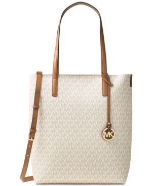 063fd40bf5841a Michael Michael Kors Hayley Large North South Top Zip Tote - White ...