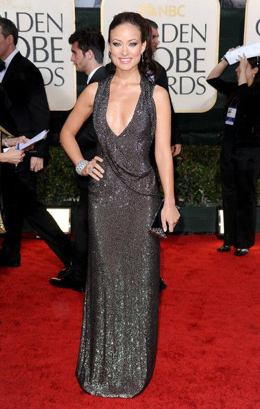 Olivia Wilde in deep-plunging Gucci