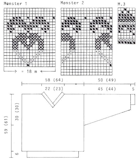 DROPS 18-7 - DROPS jumper with heart flower pattern in Vienna ...