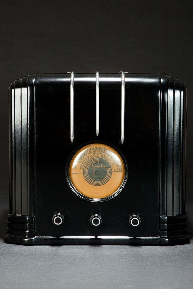 Ebony Sparton 517-B Radio Walter Dorwin Teague Art Deco Design ...