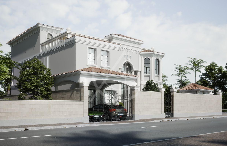Mediterranean Arabic House Design Home Exterior In Riyadh Saudi Arabia Cas Classic House Exterior Exterior Design Classic House Design