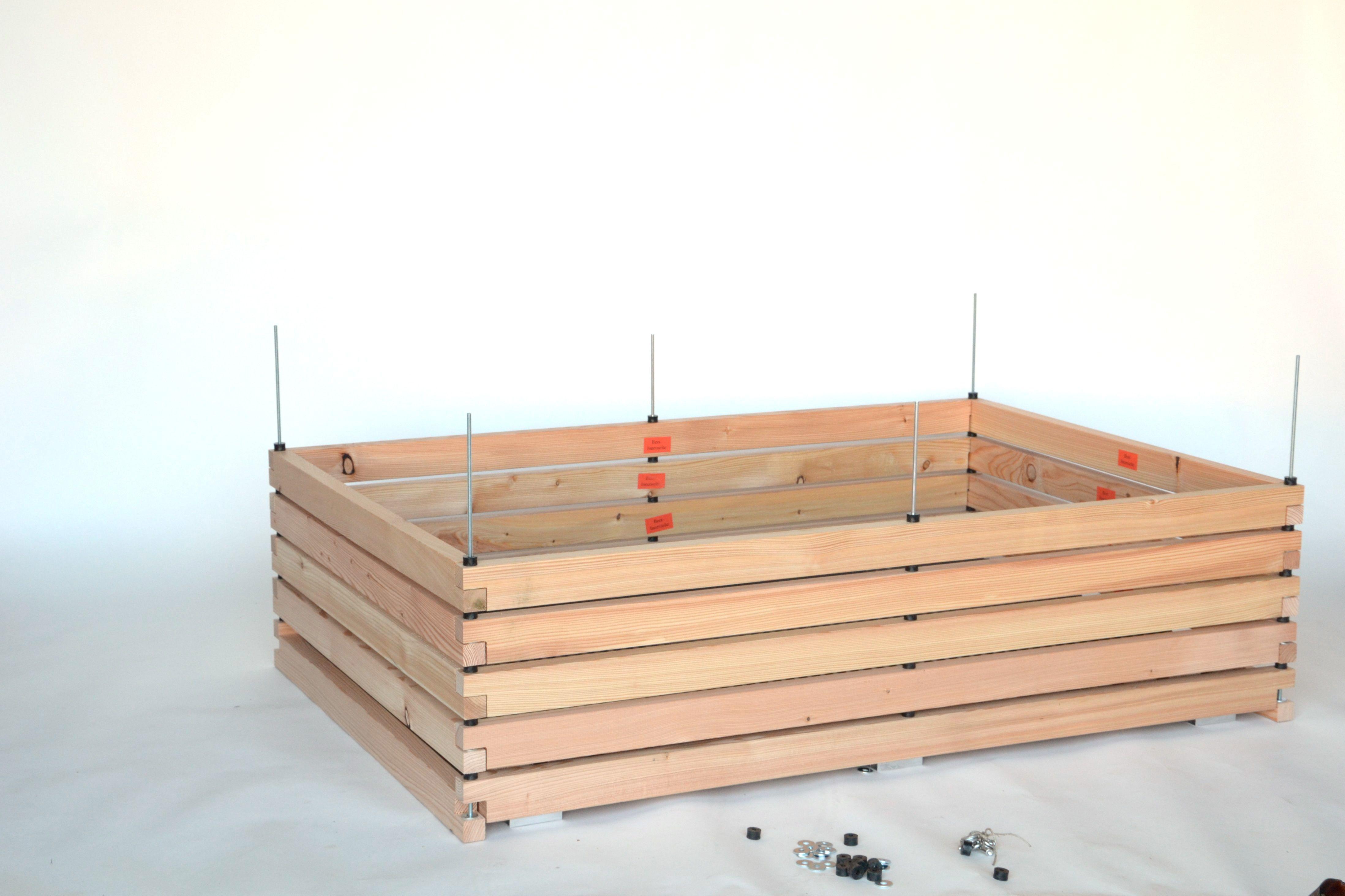 Hochbeet Pflanzkasten Aus Larche Fur Die Terrasse 180x120cm Mit Bildern Hochbeet Holz Hochbeet
