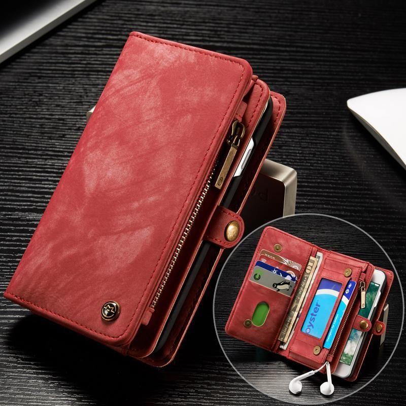 Caseme for samsung wallet case premium zipper leather