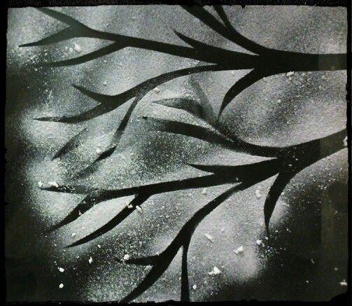 Use Spray Snow And Stencils To Make A Fun Winter Window