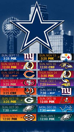 Dallas Cowboys City Mobile Schedule Wallpaper Dallas Cowboys Wallpaper Dallas Cowboys Schedule Cowboys Schedule