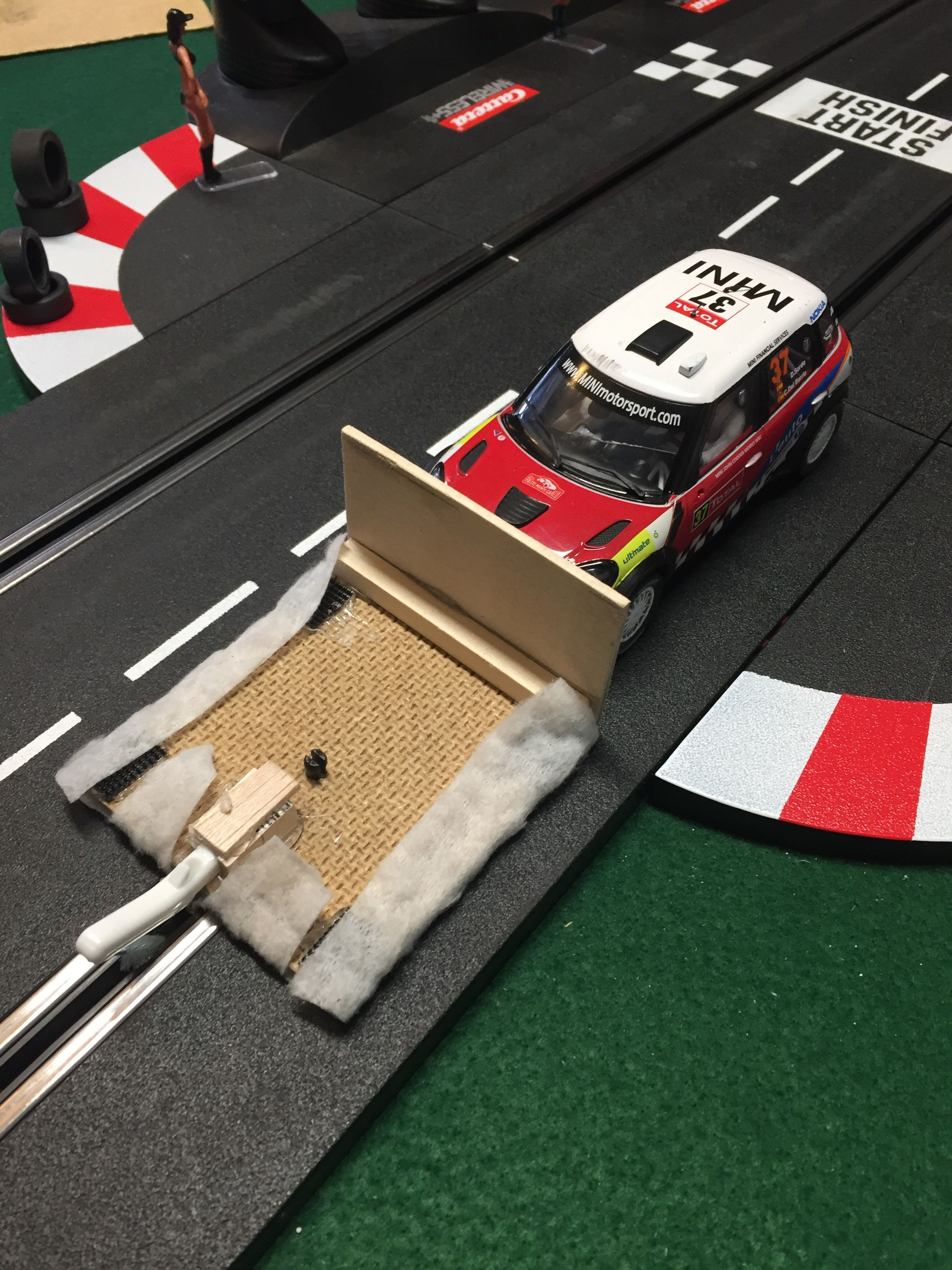 Made My Own Track Cleaner Works Pretty Good Slot Car Racing Slot Cars Slot Car Tracks