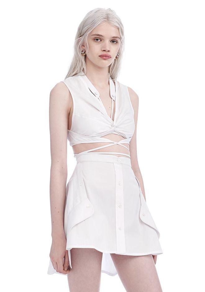 ALEXANDER WANG EXCLUSIVE DECONSTRUCTED SHIRT DRESS Long dress Adult 12_n_a