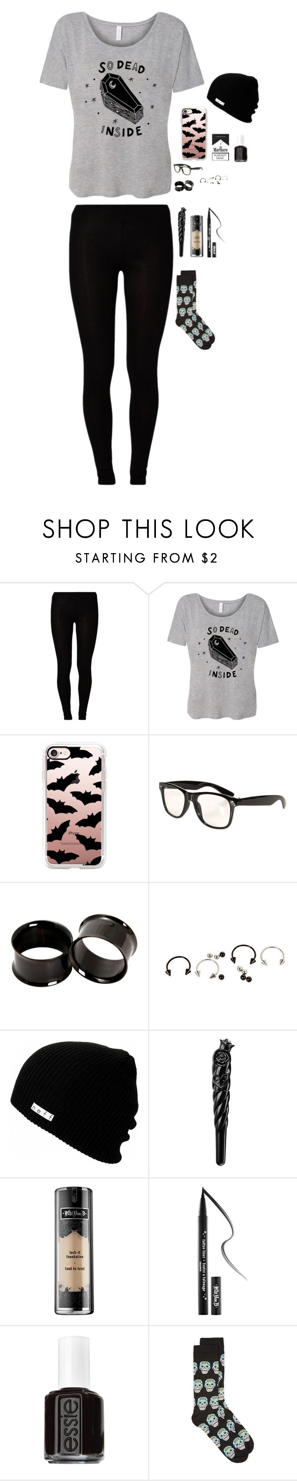 """Happy 31 Days Of October!"" by tellthewolvesimhome ❤ liked on Polyvore featuring Majestic, Casetify, Neff, Anna Sui, Kat Von D, Essie and Topman"