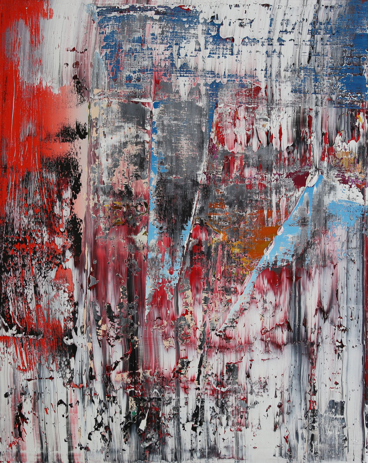 """""""abstract with some orange & red I, oil on canvas"""
