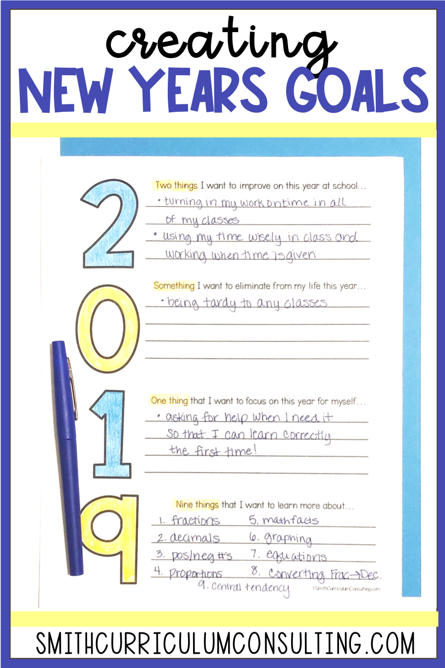 Creating Goals When We Start Back To School After Winter Break Is A Regular Activity Spruce It Up With This Freebi New Year Goals Writing Rubric Student Goals [ 1350 x 899 Pixel ]
