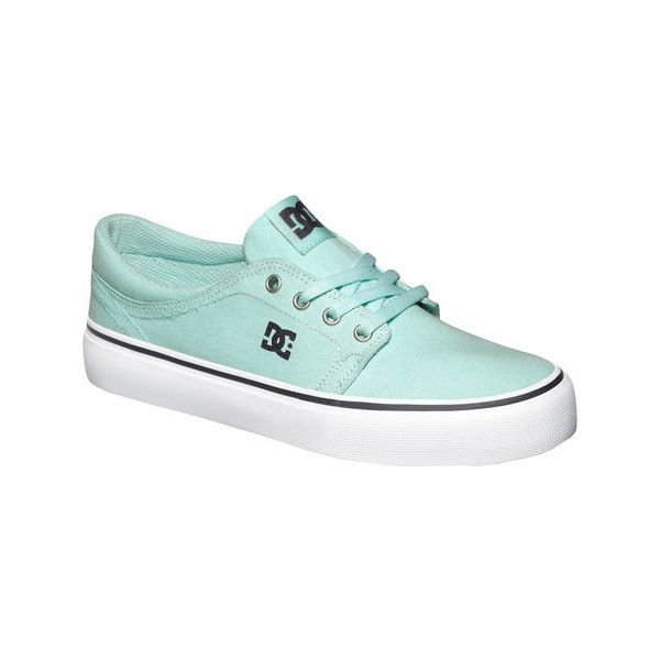 Womens DC Shoes Trase TX Mint Casual 40 liked on Polyvore featuring
