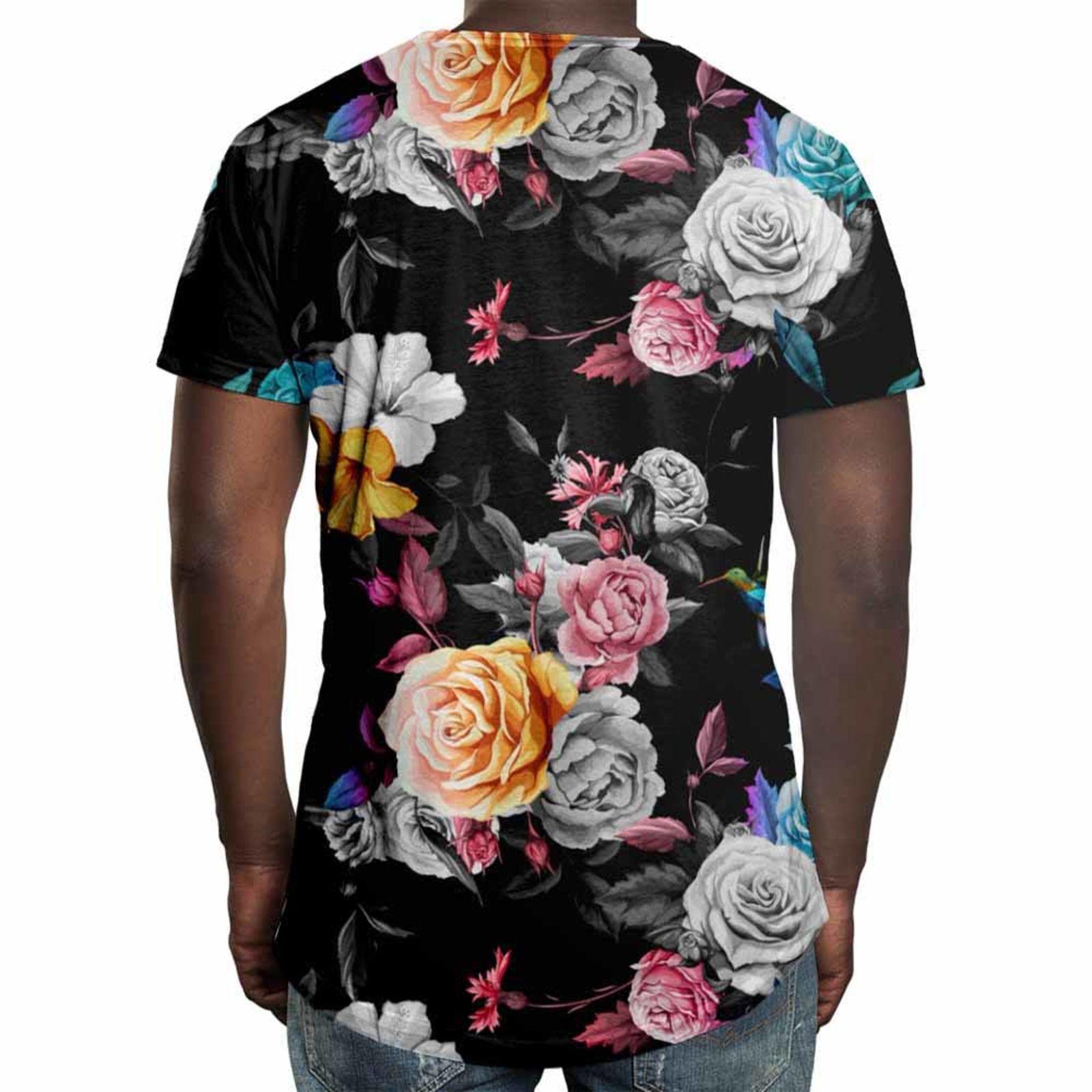 d521848c0 Camiseta Longline Over Fame Floral em 2018