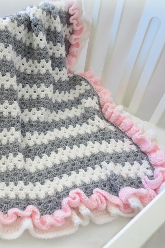 Crochet Baby Blanket Pattern Easy Crochet Patterns By Deborah O Leary Baby Girl Crochet Blanket Baby Blanket Crochet Pattern Easy Baby Blanket Pattern