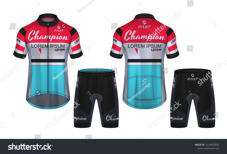 Cycling Jerseys Mockup T Shirt Sport Design Template Uniform For