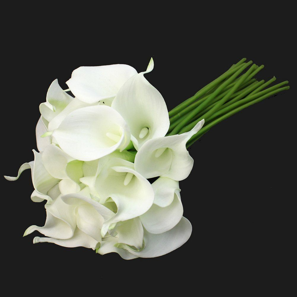 Homgaty 10 pcs calla lily bridal wedding party decor bouquet latex cheap flower bunch buy quality calla lily directly from china decorative bouquet suppliers calla lily bridal wedding party decor bouquet 20 heads latex izmirmasajfo