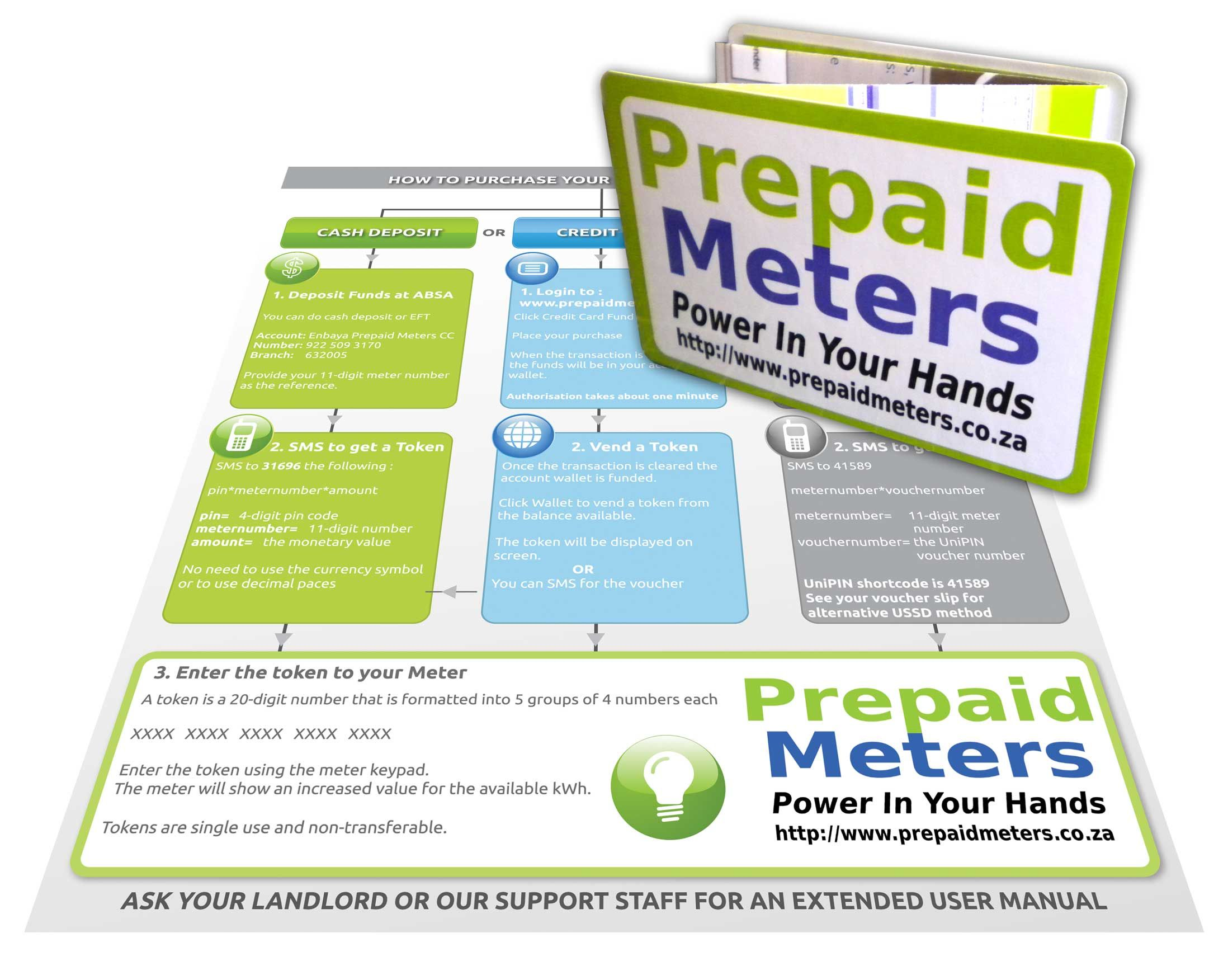 Initially Enbaya Prepaid Meters Selected A Credit Card Sized Z Card To Provide Its Consumers With Useful Tips On How To Use Its Card Sizes Credit Card Cards