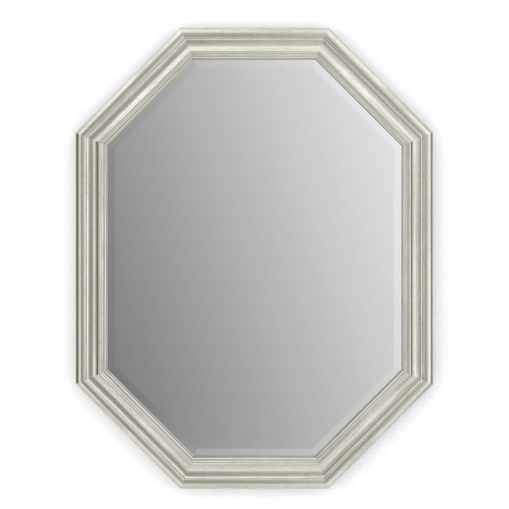 Delta 26 in. x 34 in. (M2) Octagonal Framed Mirror with Deluxe Glass ...
