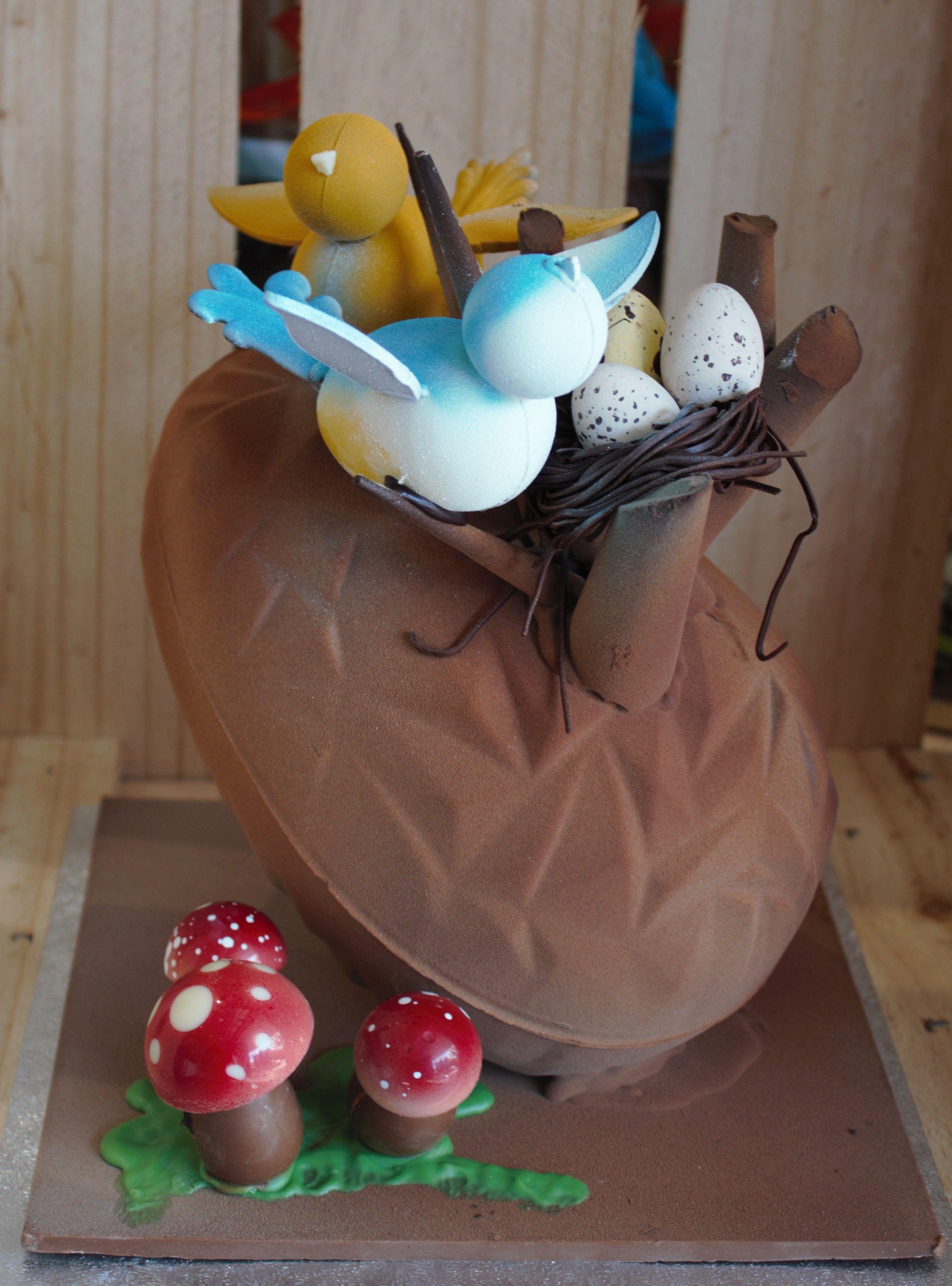 Essenze chocolate easter nest egg with birds essenzechocolates essenze chocolate easter nest egg with birds essenzechocolates negle Images