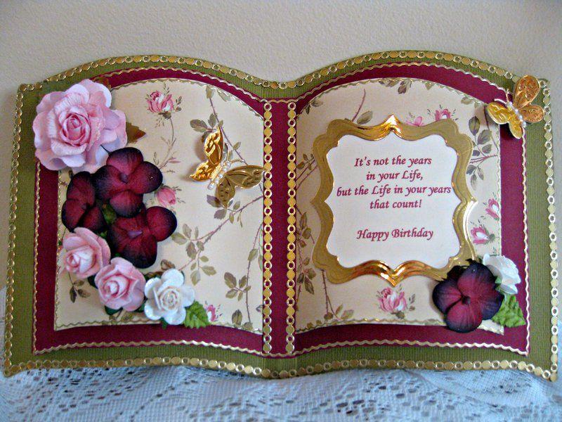 Bookatrix Birthday Card Birthday Card Book Butterfly Birthday Cards Greeting Cards Handmade