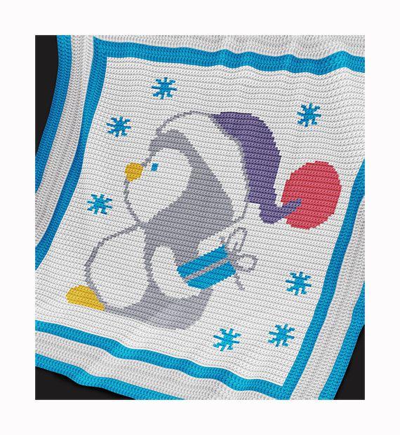 CROCHET Pattern - Baby Blanket Pattern - Christmas Penguin ...