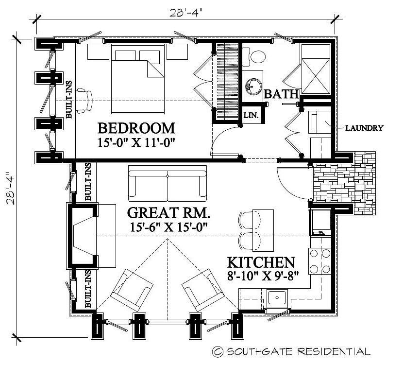 Southgate Residential 11 01 2010 12 01 2010 Tiny House Plans Tiny House Floor Plans Guest House Plans