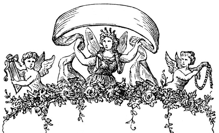 angels-with-banner-flying-child-angel-angels-wings-angels-wings-ZqVVzo-clipart.jpg (700×427) | Vintage artwork,  Artwork, Art
