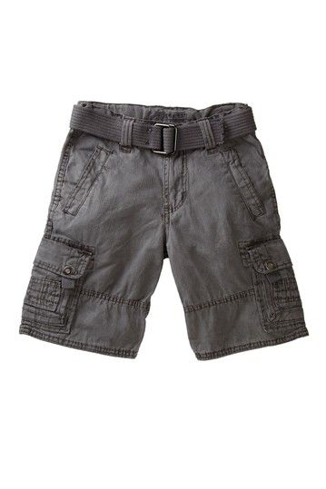 Belted Cargo Short with Stitched Pocket by Request Kids on @HauteLook
