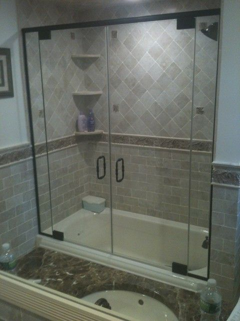 French Door Shower Enclosure Shower Doors Cut To Any Angle Double