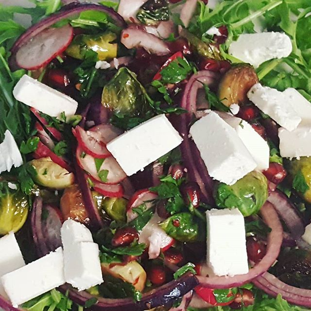 [New] The 10 Best Food Ideas Today (with Pictures) -  Sprout salad with pommegranite and feta.