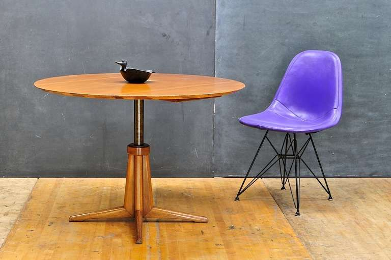 Great Brown Saltman Hydraulic Transformer Coffee Table Vs. Card Table