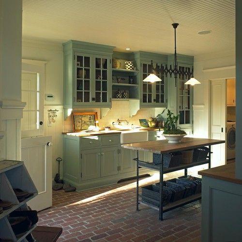 Green country kitchen cabinets Kitchen Ideas Pinterest Green
