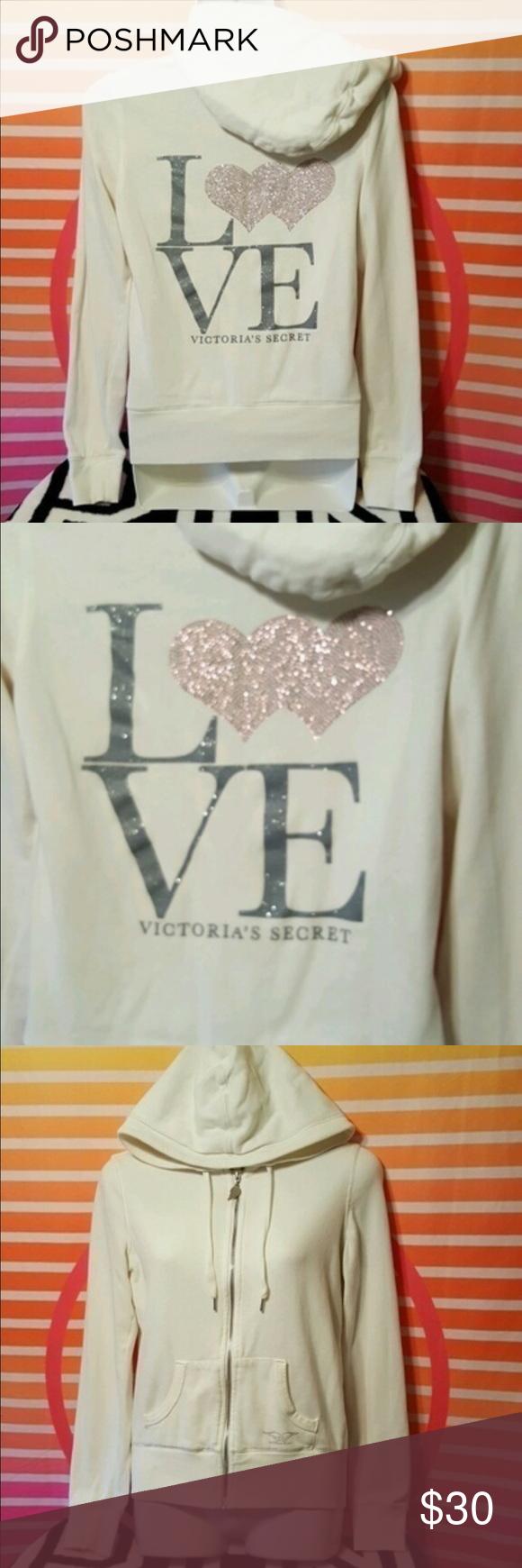 Vs pink sweatshirt Great condition size XS PINK Victoria's Secret Tops Sweatshirts & Hoodies