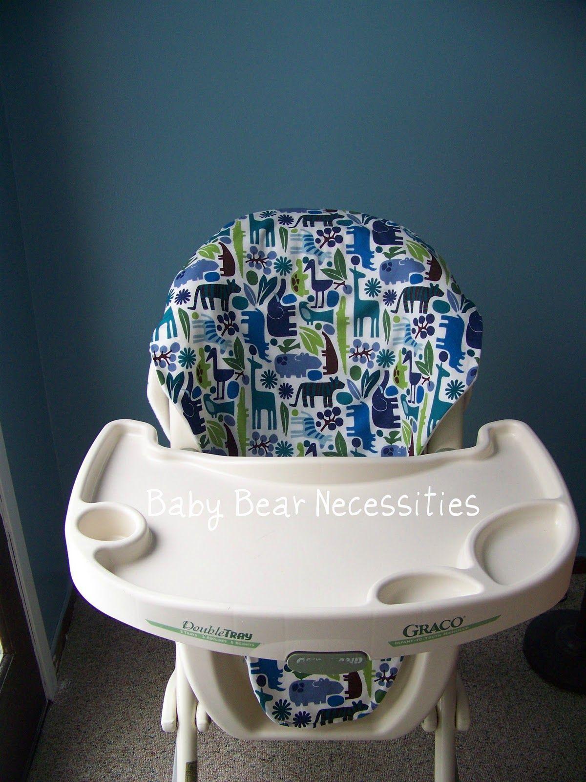 Baby Bear Necessities High Chair Cover Tutorial DIY