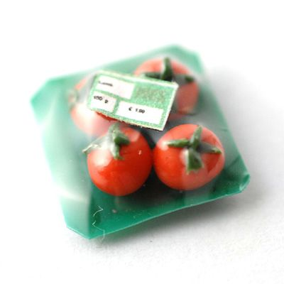 Mushrooms 1:12 Doll House Miniatures Dollhouse Package of Wrapped Vegetables
