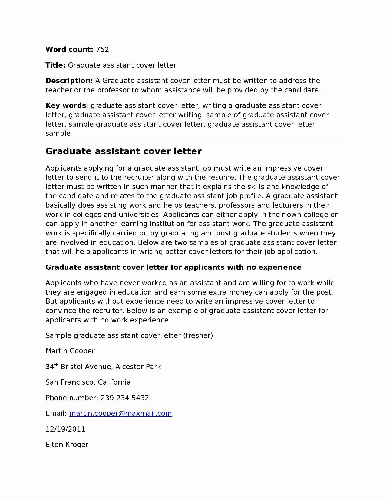 23 Research Assistant Cover Letter With Images