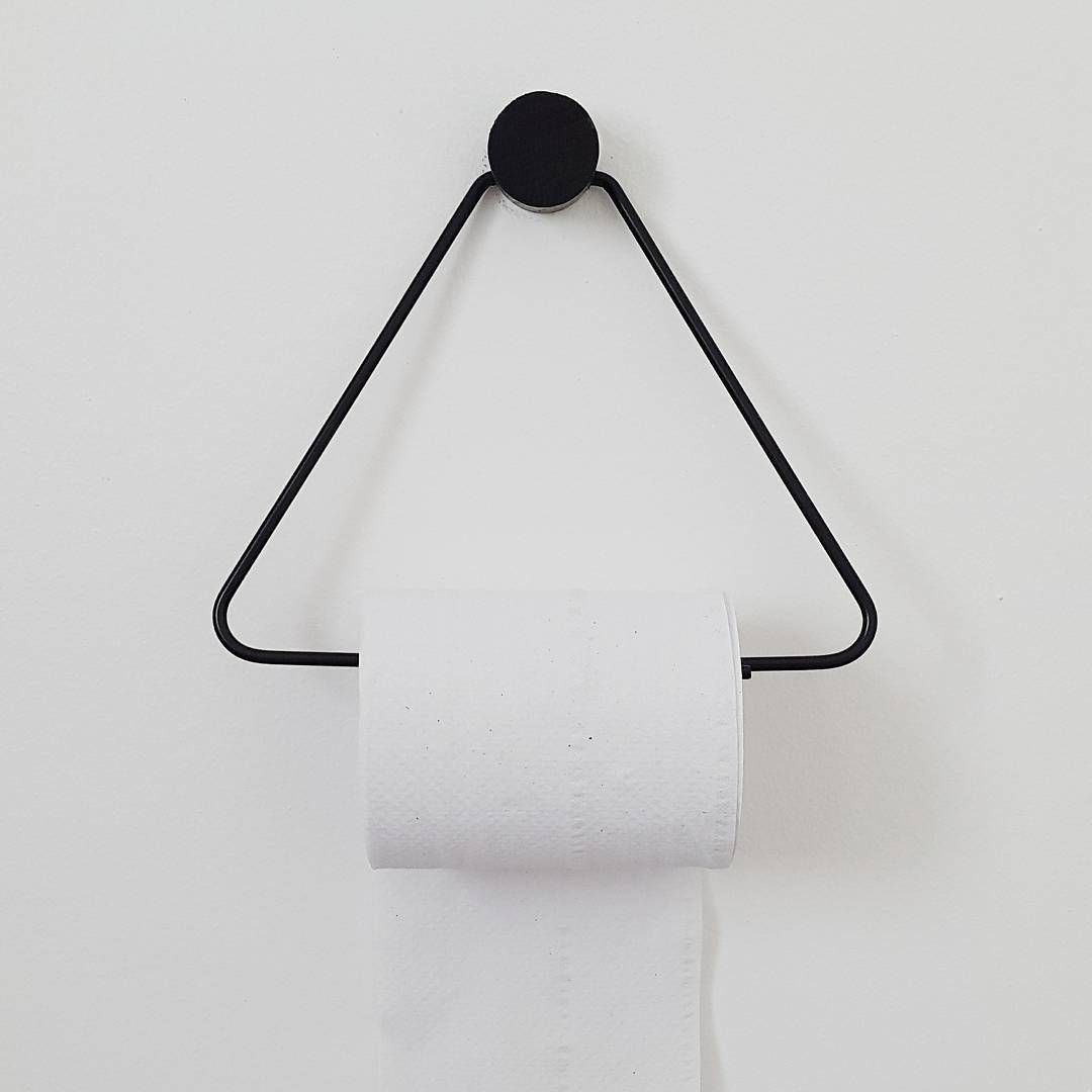 Minimalistic danish design from ferm LIVING - Black Toiletpaper Holder - http://www.fermliving.com/webshop/shop.aspx?eComSearch=True&ID=14&eComQuery=Toilet