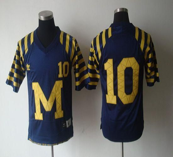 Wolverines #10 Tom Brady Blue Under The Lights Embroidered NCAA ...