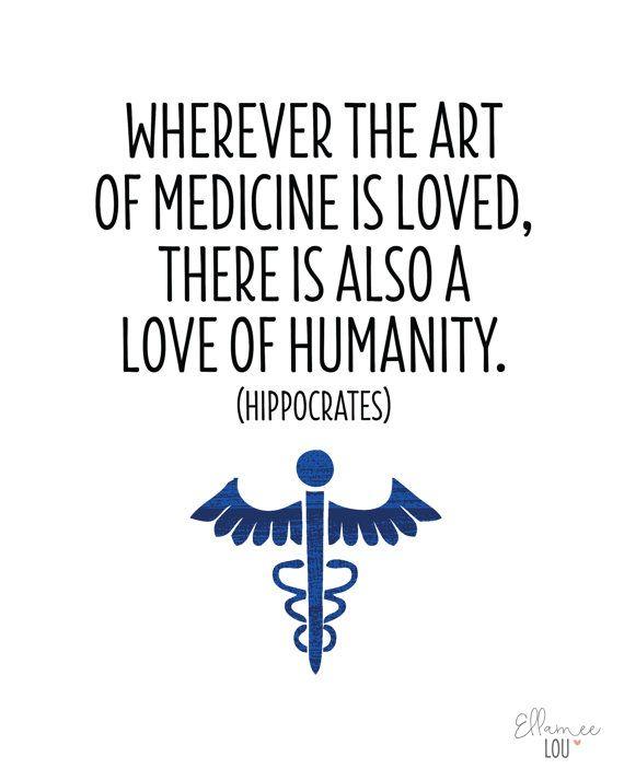 Printable Art Medical Quote Art of Medicine Wall Art by EllameeLou