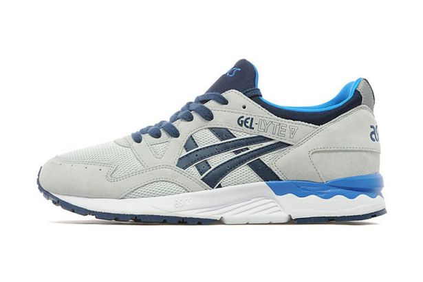 ASICS GEL-Lyte V Grey/Navy JD Sports Exclusive