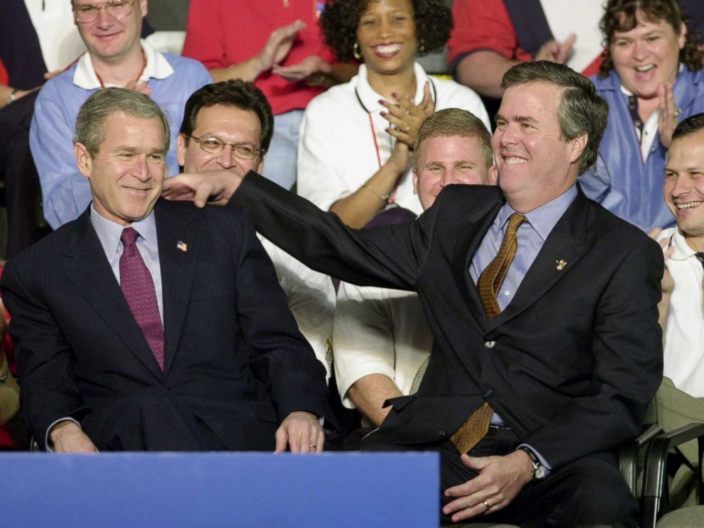 George W Bush With His Brother Jeb Bush Family Family History