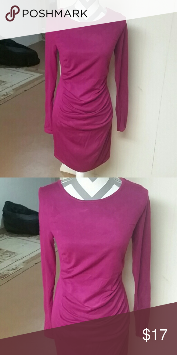 fc2ccfe76c2 Hot pink sweater dress Hot pink sweater dress in great condition Express  Dresses